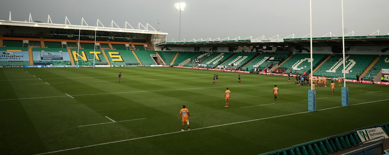 Franklin's Gardens was eerily quiet