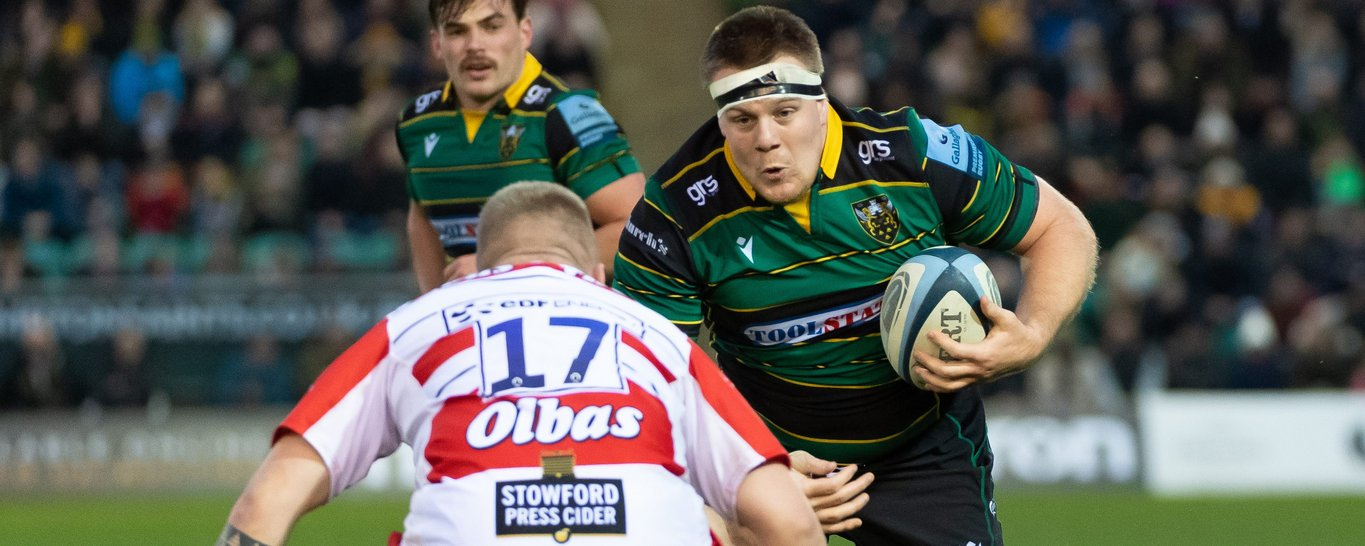 Paul Hill in action for Northampton Saints