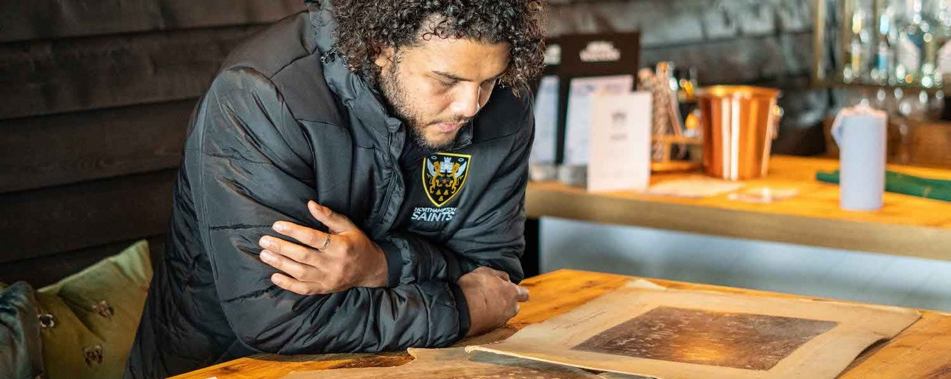 Lewis Ludlam researches Frank Anderson during Black History Month
