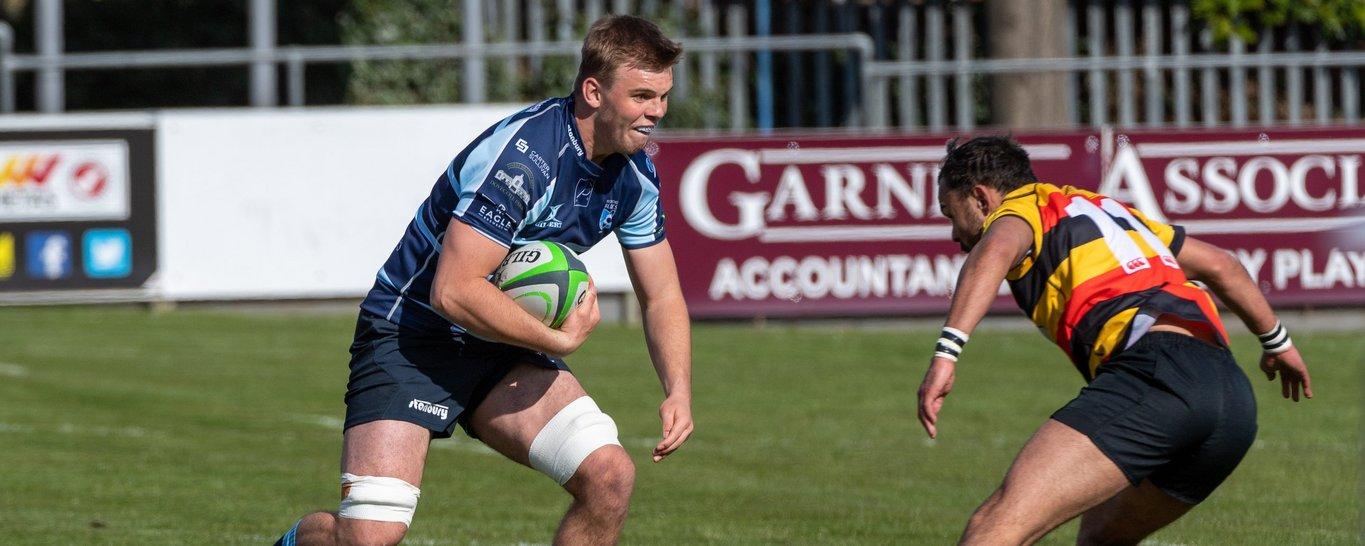 Saints' Ollie Newman carries for Bedford
