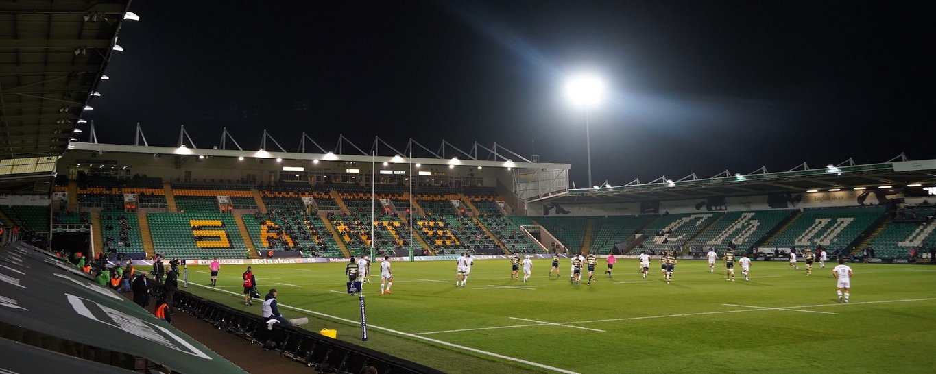 Franklin's Gardens welcomed crowds back through the gates