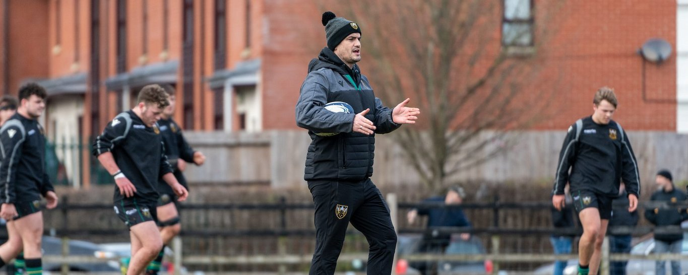 Northampton Saints Academy Manager Mark Hopley