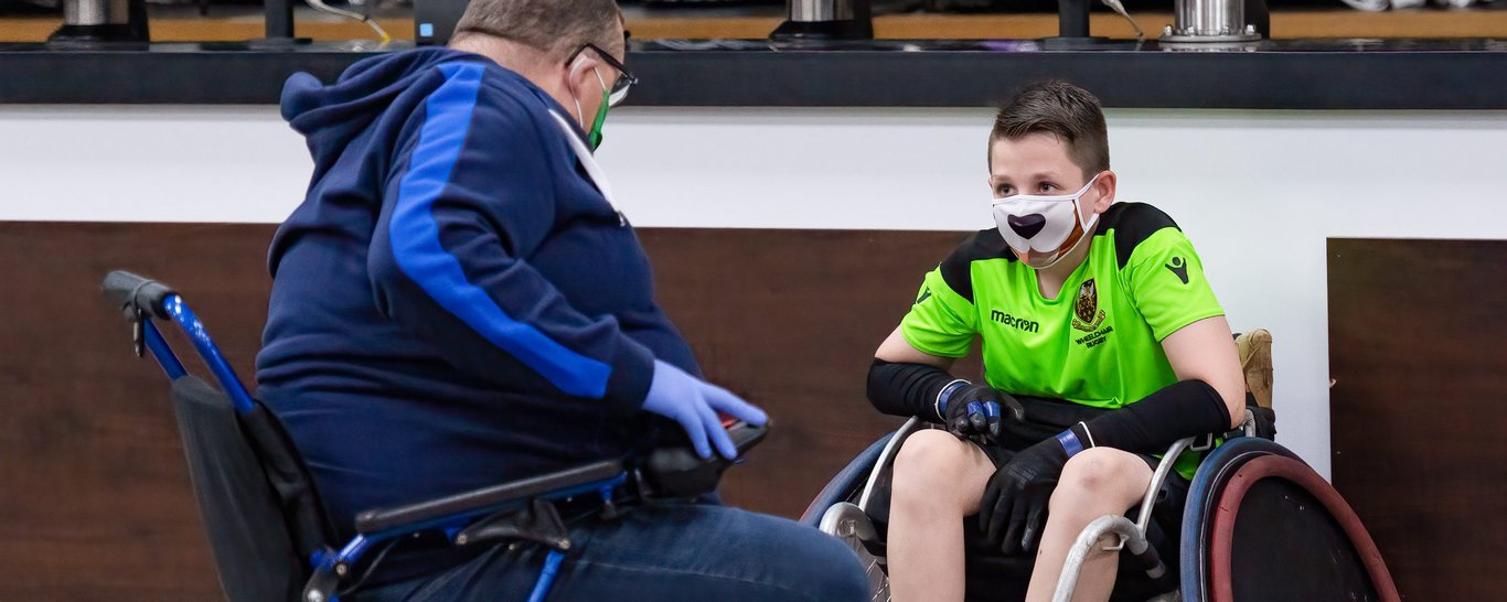 Northampton Saints Wheelchair Rugby team in action