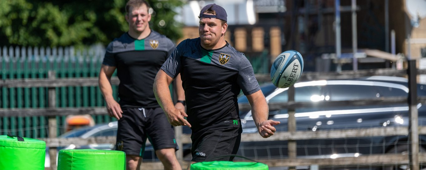 Paul Hill trains at Franklin's Gardens