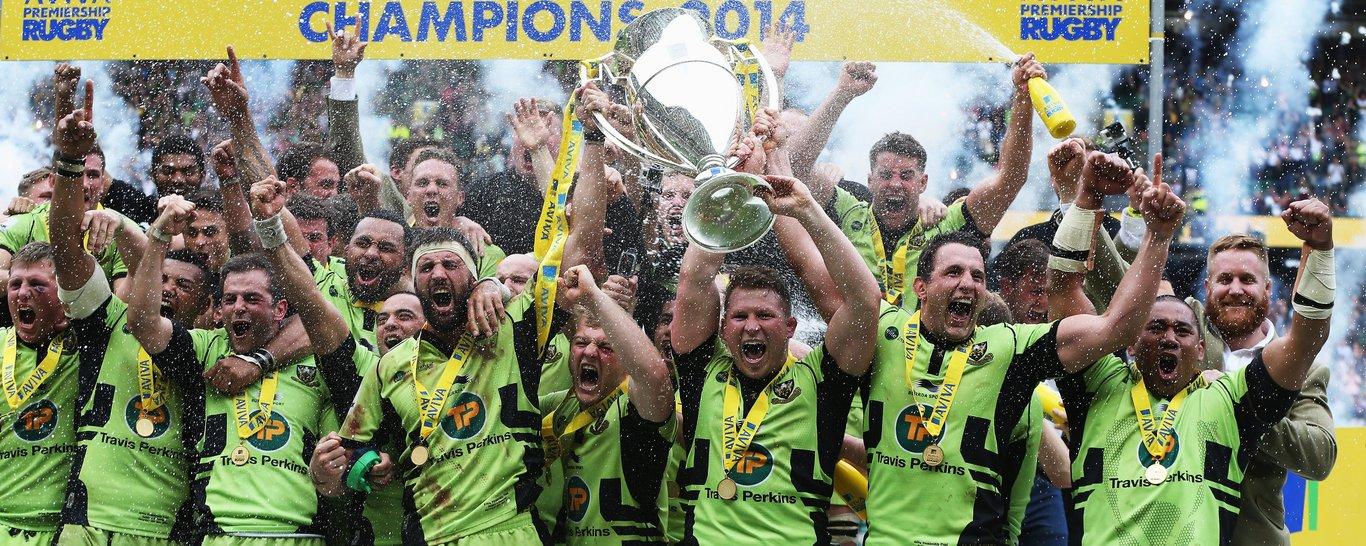 Saints lift the Premiership trophy