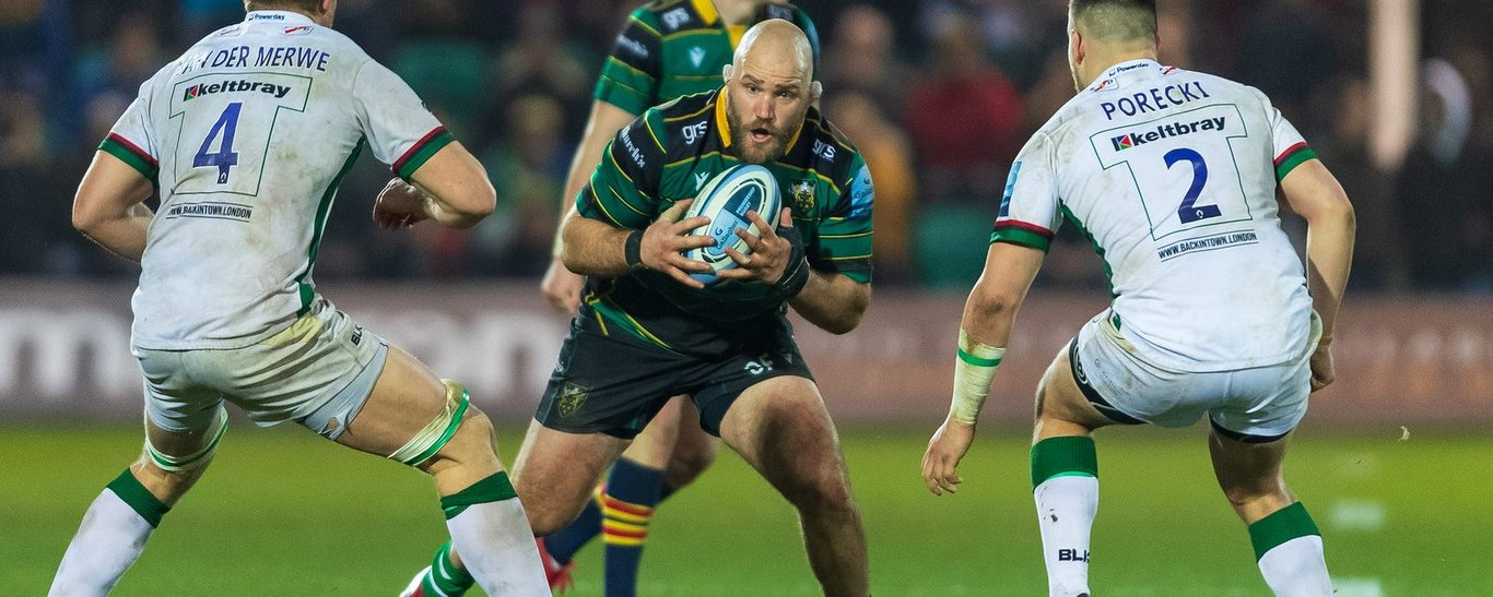 Owen Franks carries the ball against London Irish
