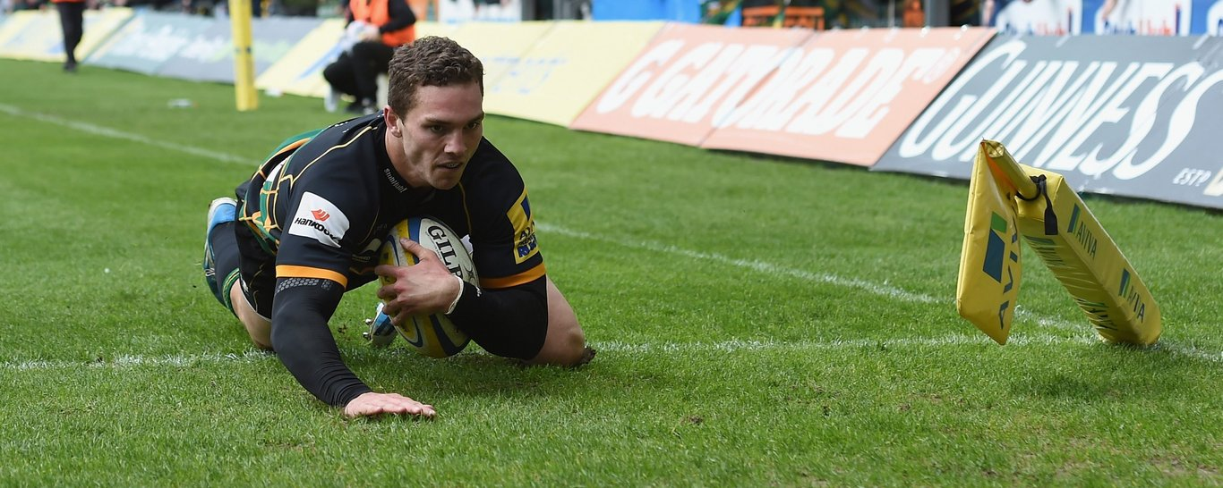 George North scores a try for Saints
