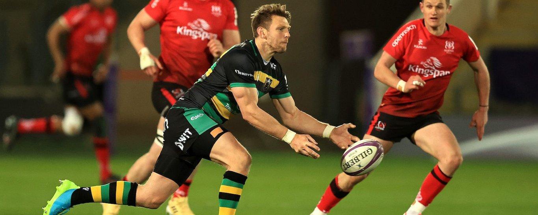 Dan Biggar of Northampton Saints against Ulster
