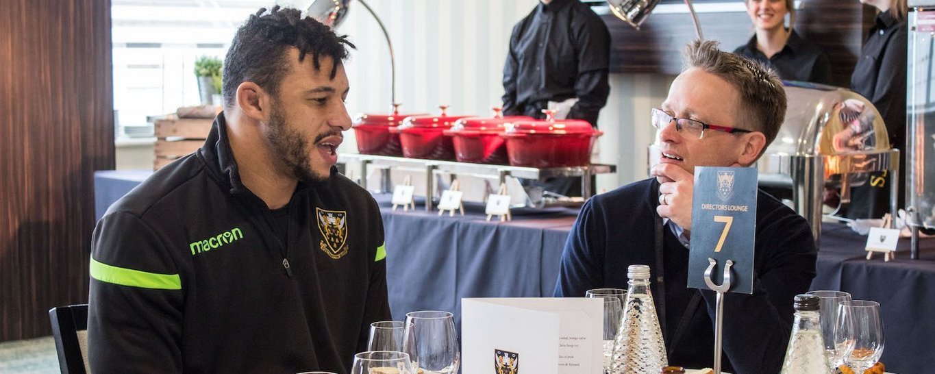 Enjoy our Directors Experience hospitality on a matchday at Franklin's Gardens