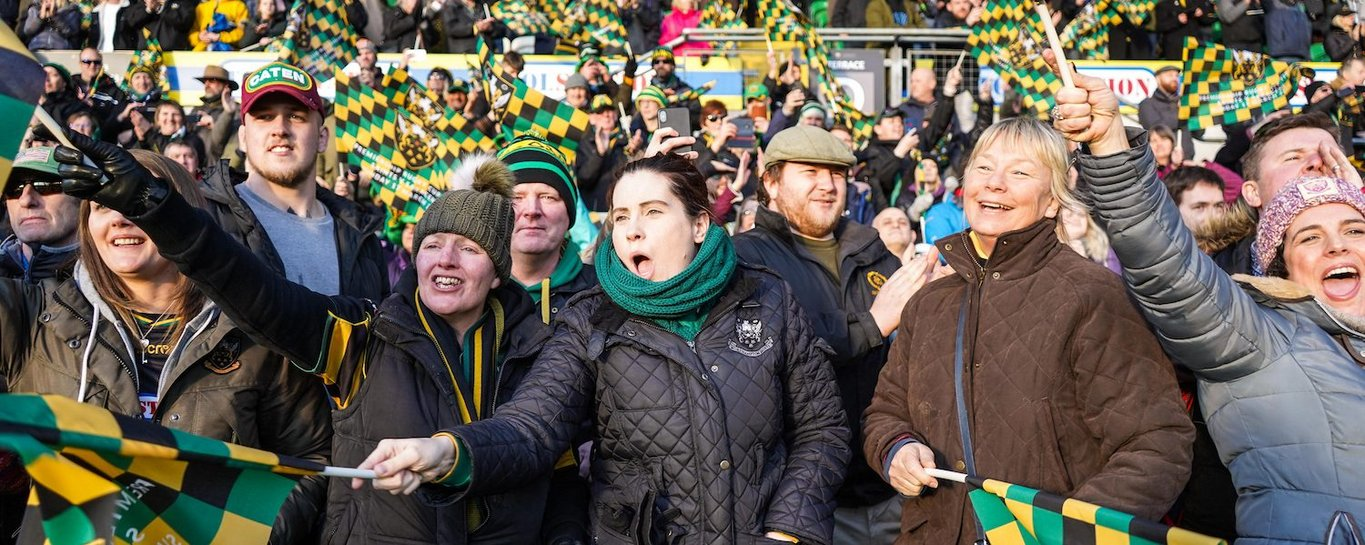The partisan crowd at Franklin's Gardens is like no other