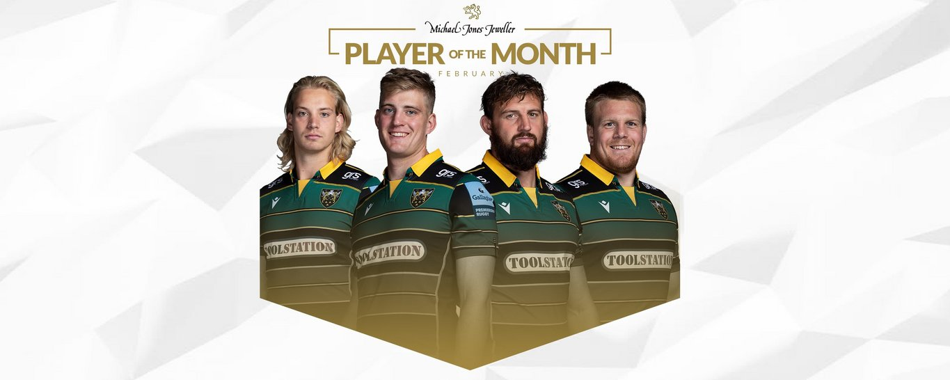 Vote now for Northampton Saints' Player of the Month