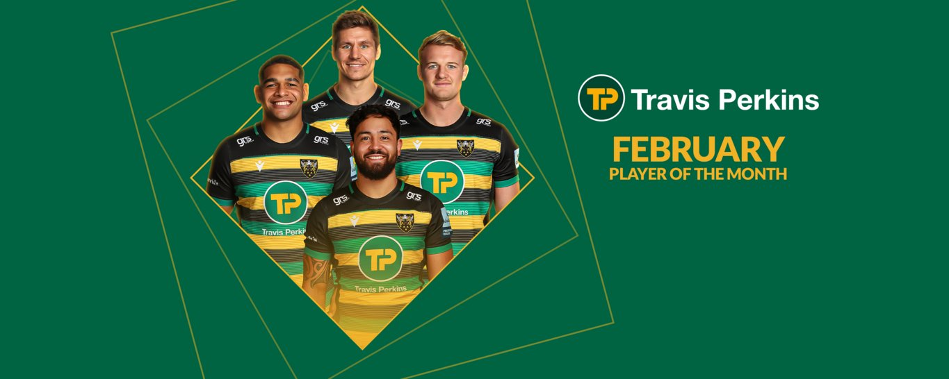 Piers Francis, Sam Matavesi, Matt Proctor and David Ribbans have been nominated for Travis Perkins player of the month for February 2021.