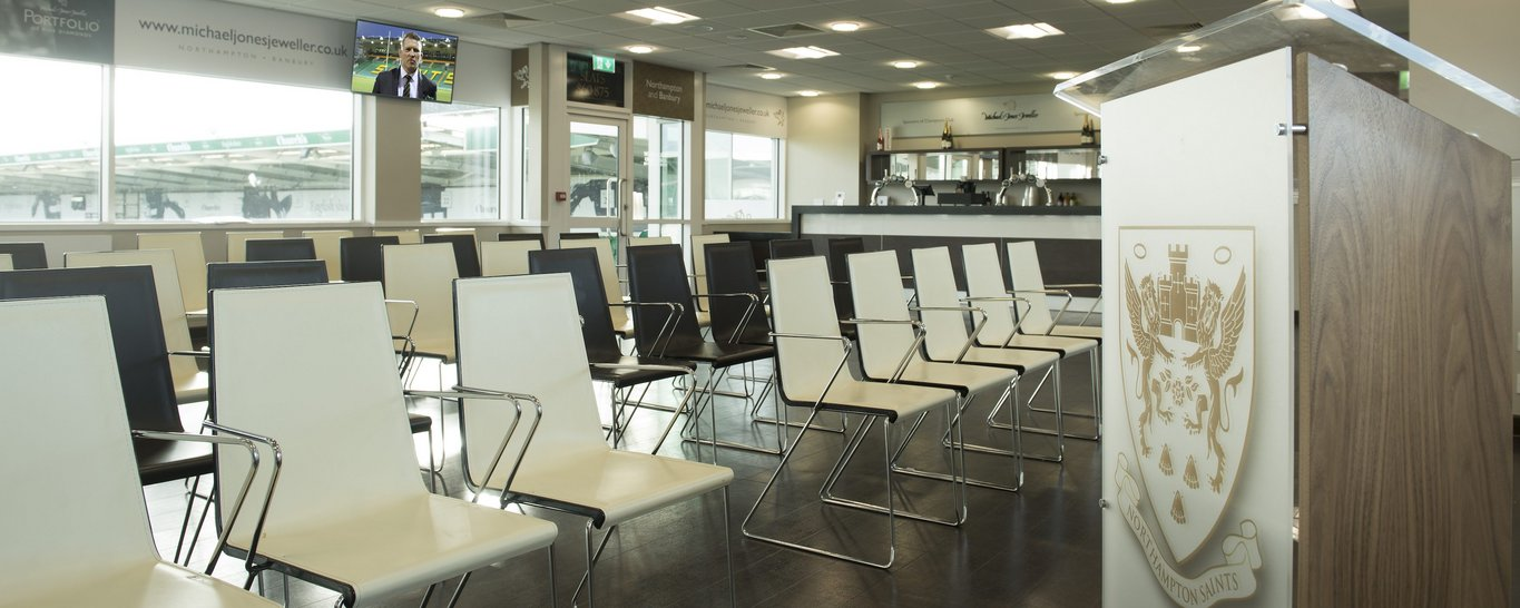 Get in touch to hear more about Franklin's Gardens unique meeting venue, with a dynamic range of rooms available, we're sure we've got the perfect space for your event.