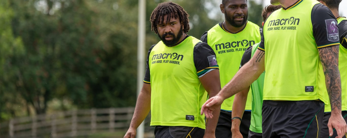 Danny Hobbs-Awoyemi trains at Franklin's Gardens
