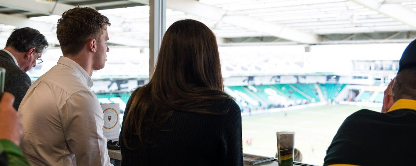 Enjoy hospitality in the Legends Lounge at Franklin's Gardens