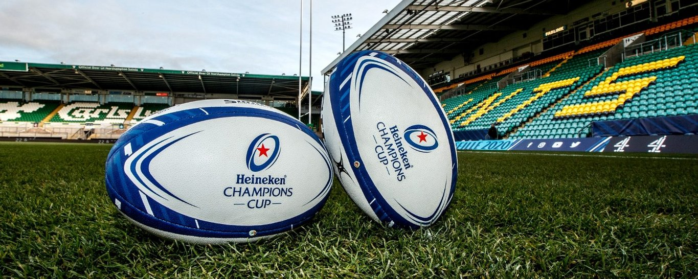 Northampton Saints compete in the Heineken Champions Cup