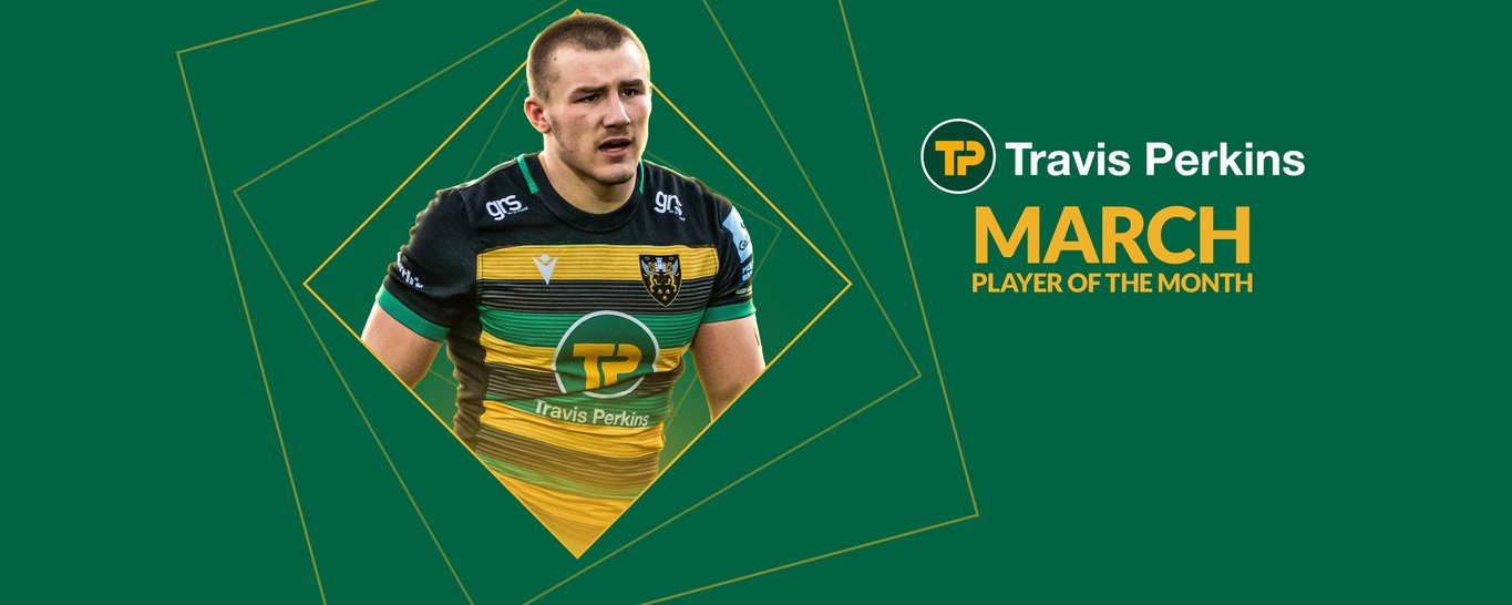 Saints' Ollie Sleightholme has been named Travis Perkins Player of the Month for March