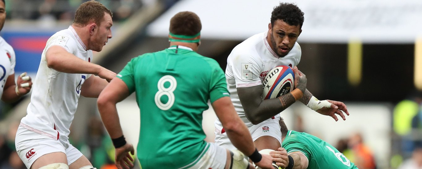 Saints' Courtney Lawes in action for England