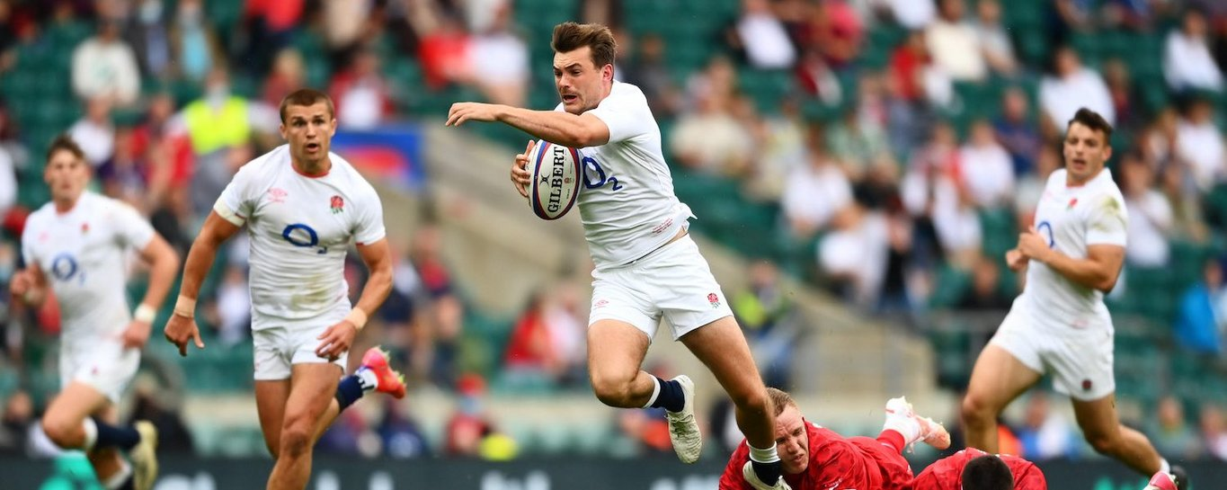 George Furbank in action for England