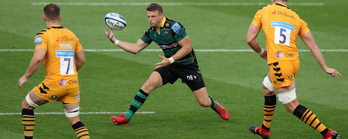 Dan Biggar wore the Northampton 10 jersey