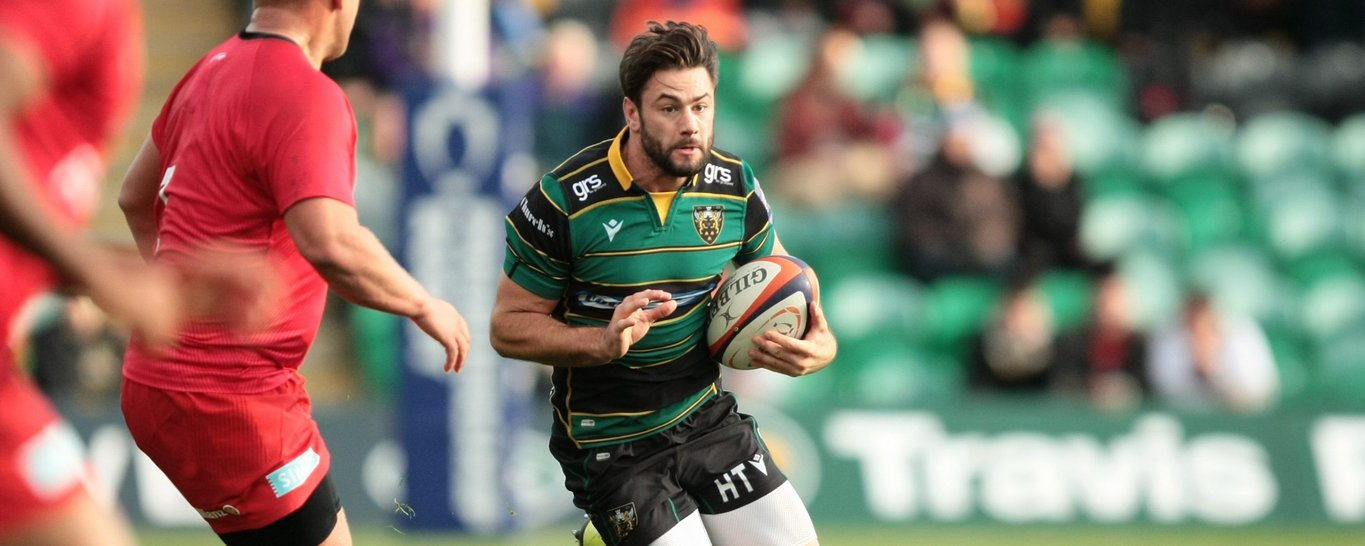 Scrum-half Henry Taylor on the charge for Saints