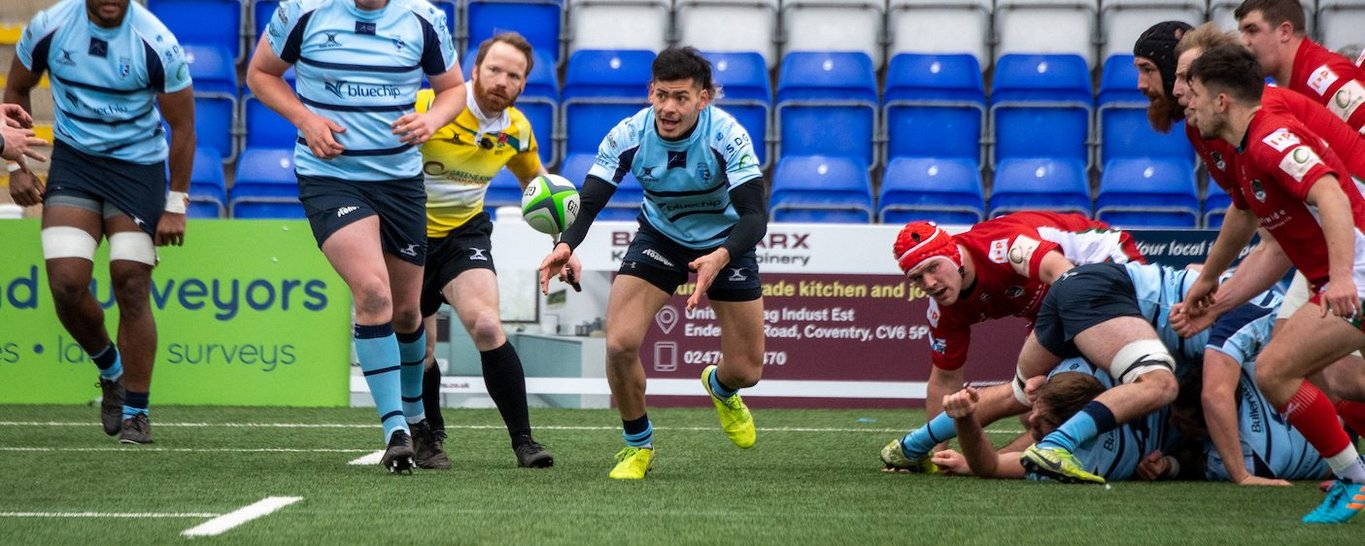 Northampton Saints' Connor Tupai featured for Bedford Blues