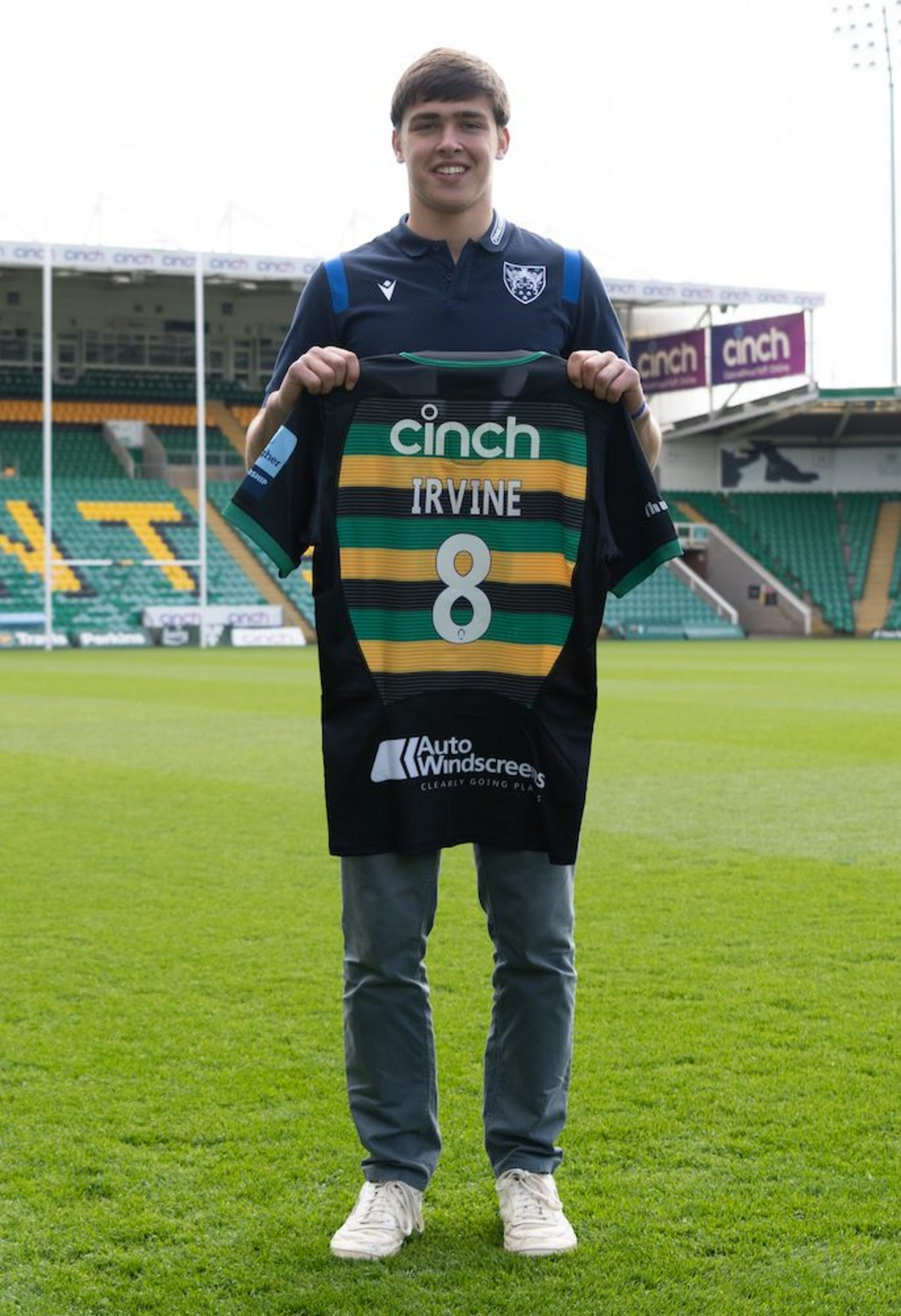 Geordie Irvine has signed on at Franklin's Gardens