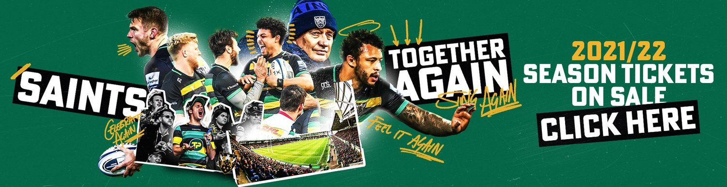 Northampton Saints' 2021/22 Season Tickets are on sale now!