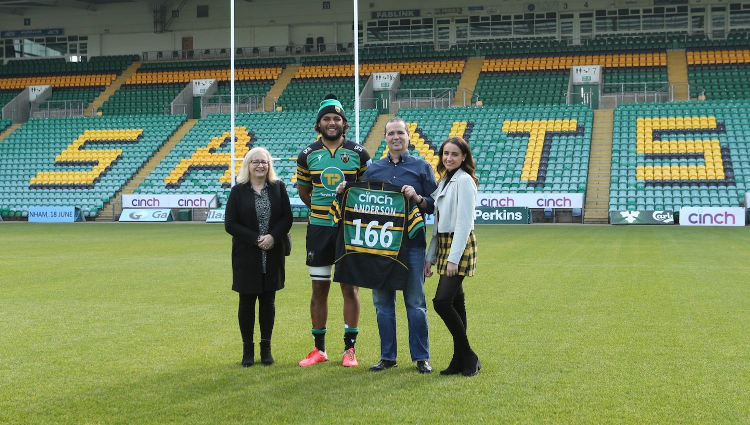 Ludlam welcomed Anderson's great grandson to Franklin's Gardens.