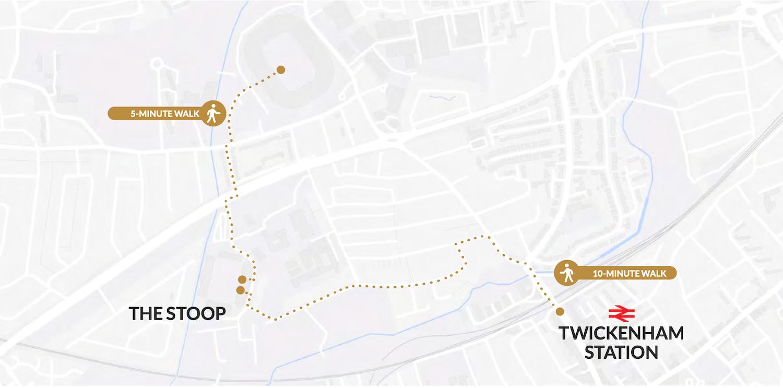 Twickenham Stoop map