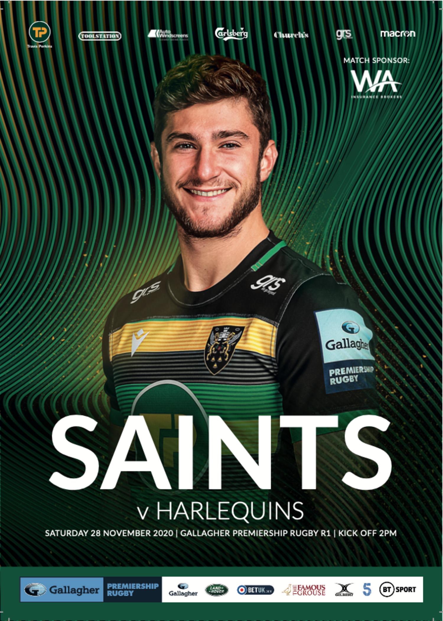 Saints v Harlequins programme