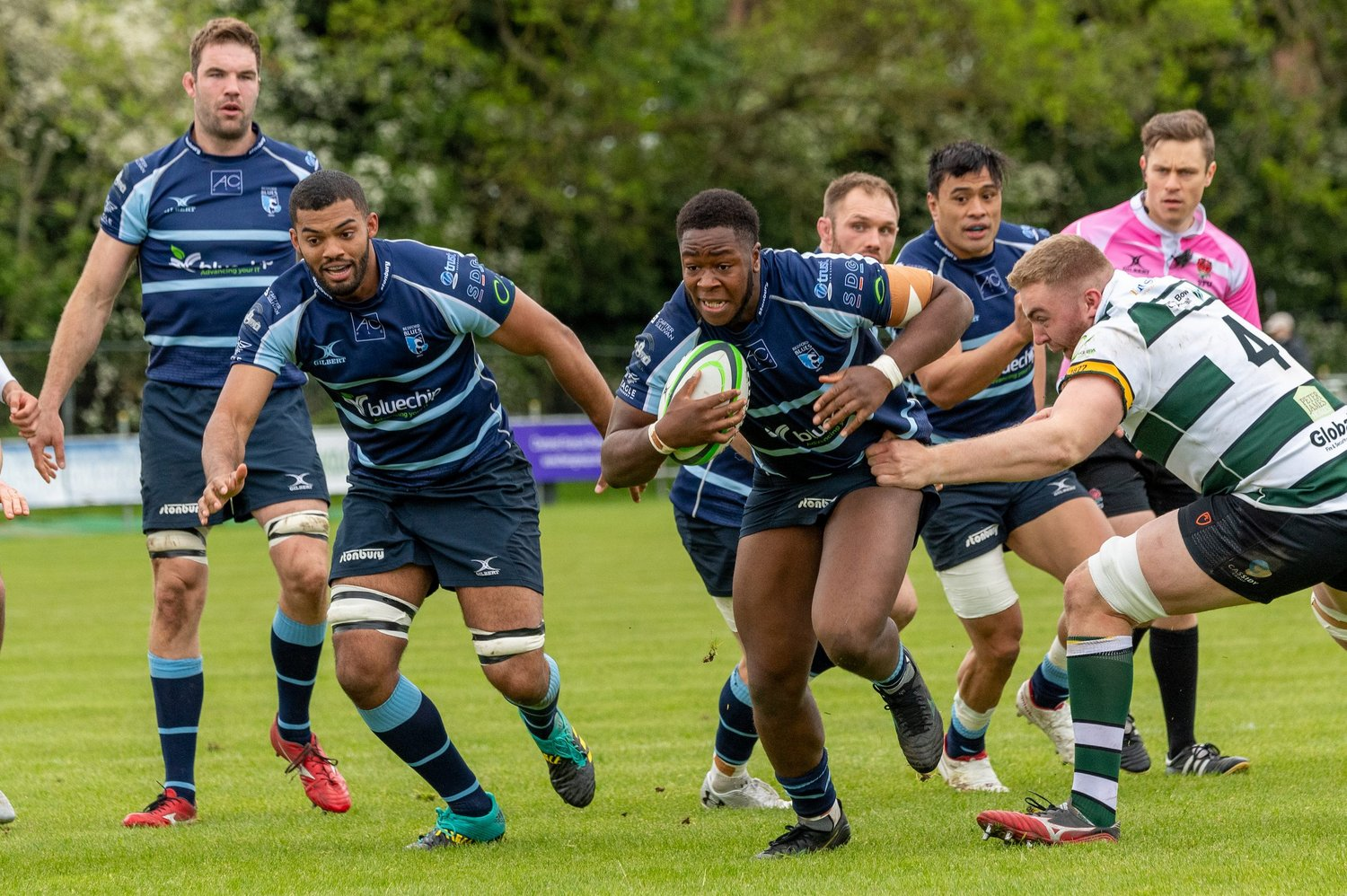 Manny Iyogun of Saints on the charge for Bedford