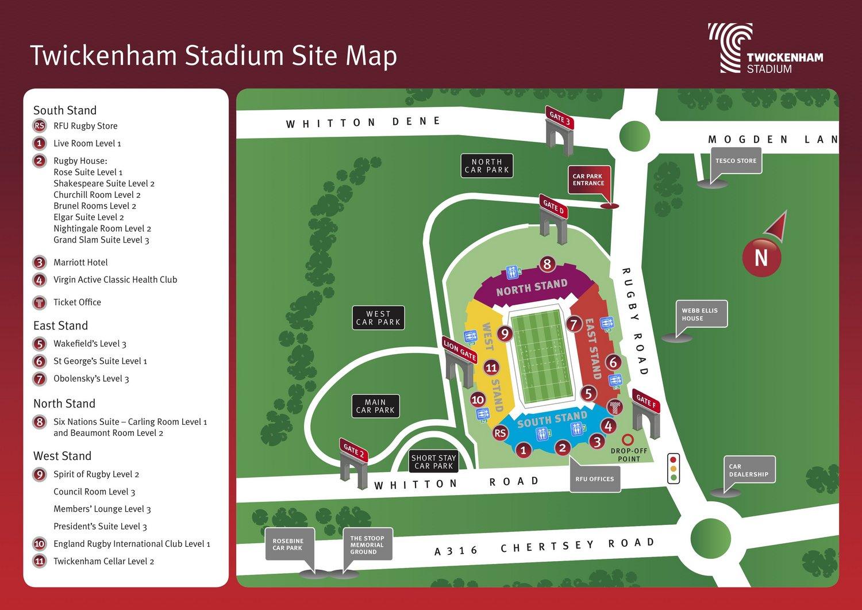 Twickenham Stadium Map