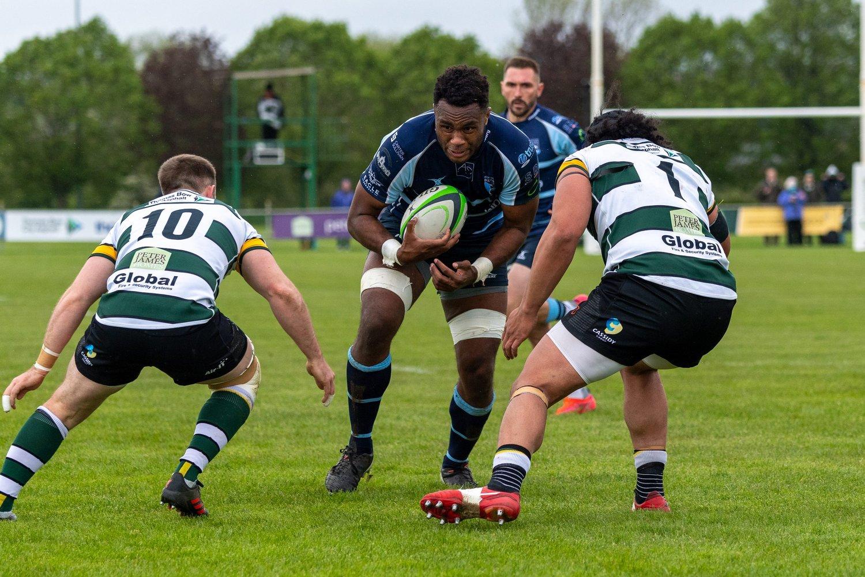 Saints' Tui Uru carries for Bedford Blues