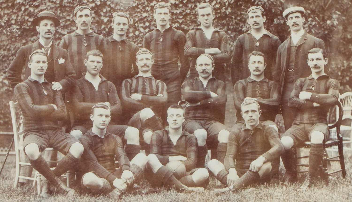 Northampton Saints' 1895-96 squad included Albert Orton (middle row, third from right)