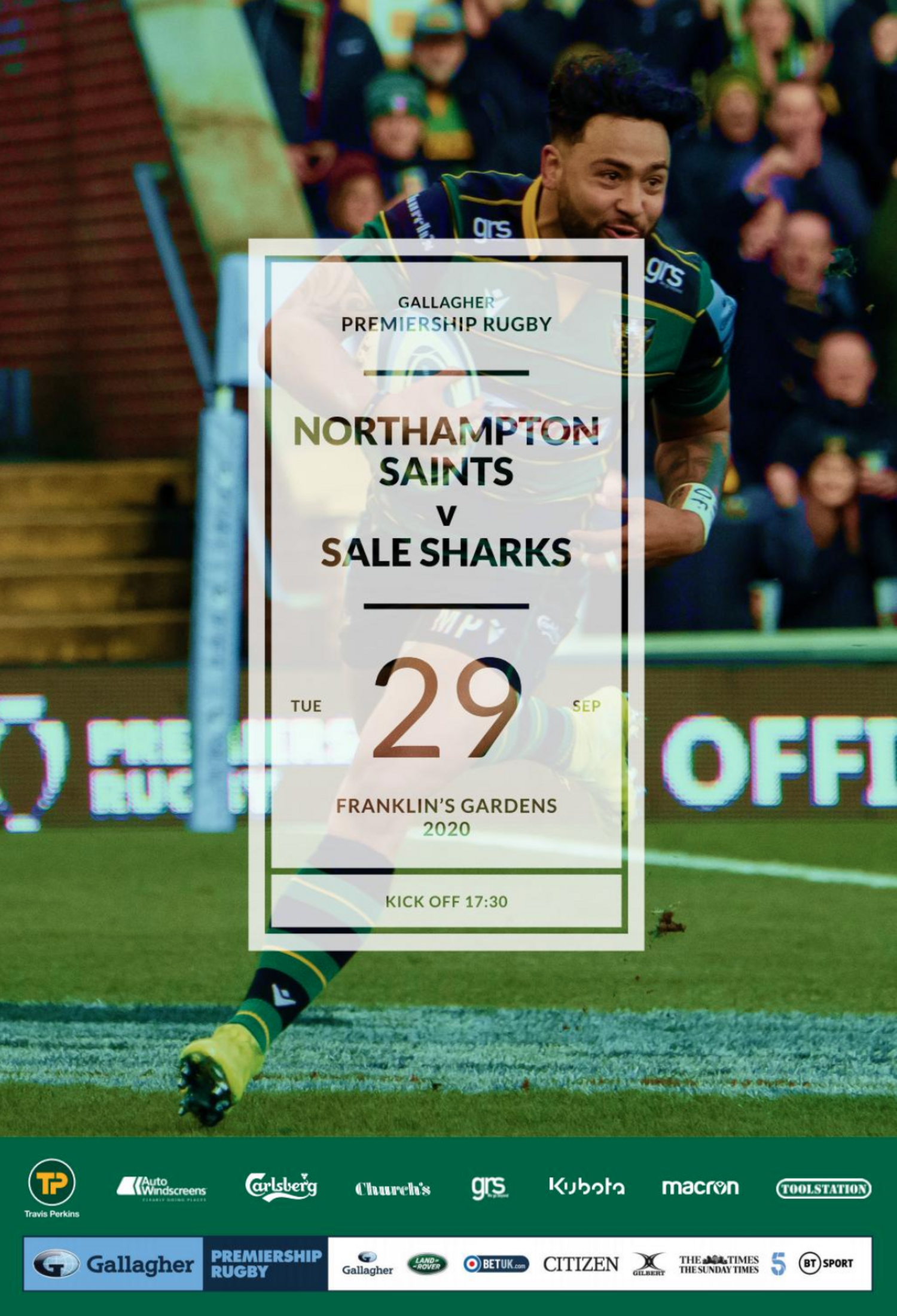 Saints v Sale programme