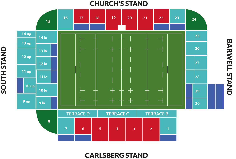 Semi-final Stadium map