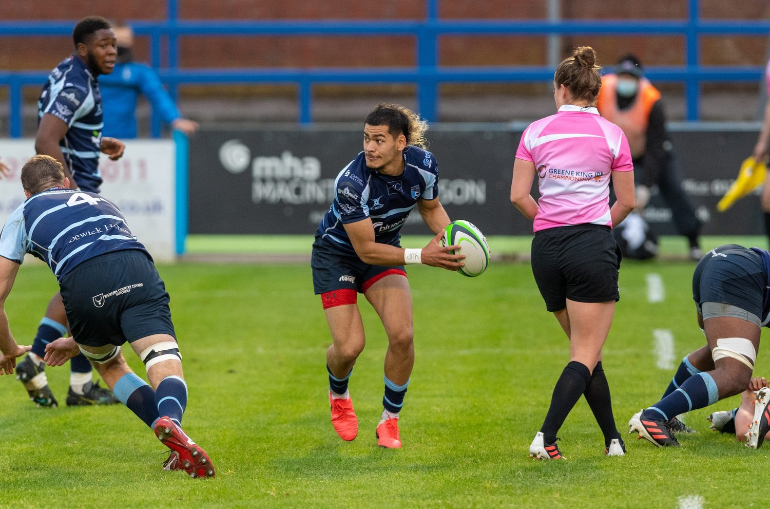 Connor Tupai of Northampton Saints featuring for Bedford