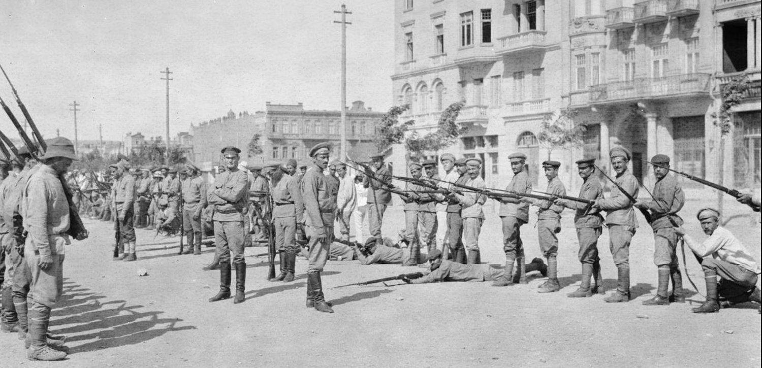 Armenian soldiers on parade in Baku