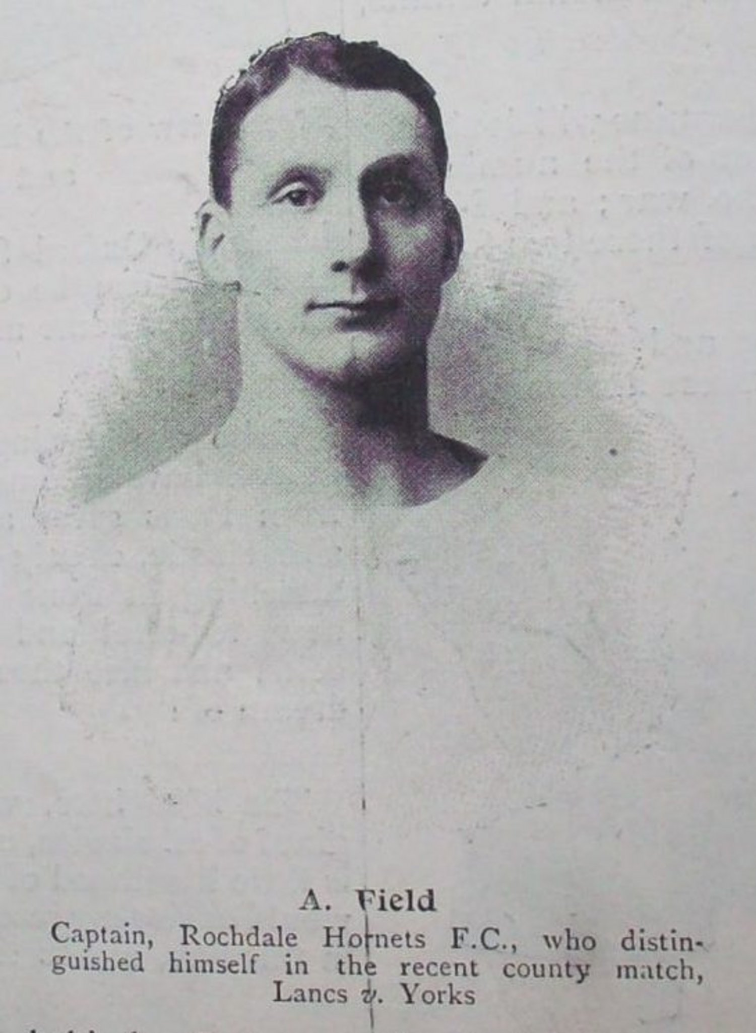Archie Field also played for Rochdale Hornets