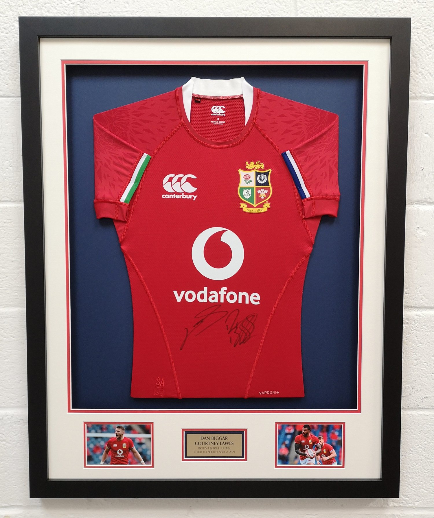 Bid to WIN a framed Lions shirt signed by Courtney Lawes and Dan Biggar.